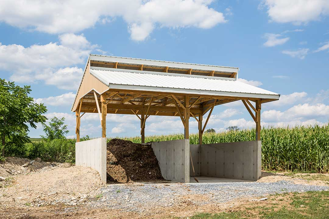Compost Building by Creek View Construction