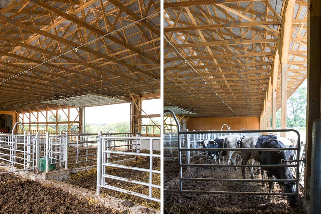 58′ x 152′ Heifer Barn by Creek View Construction